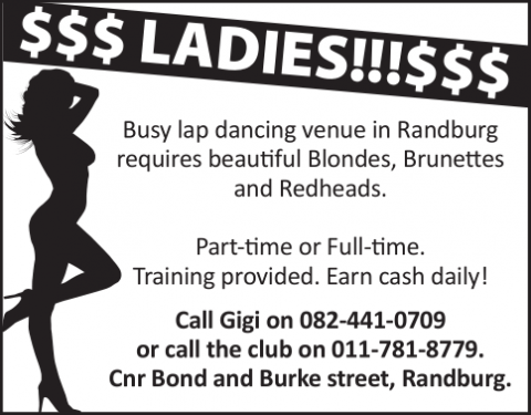Facebook - Ladies Required - Black and White